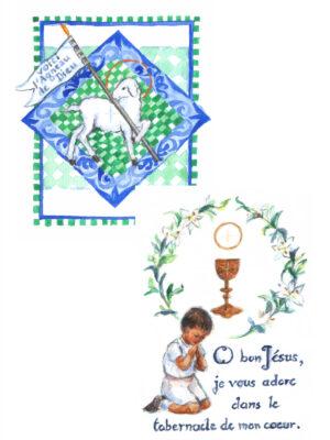 6 images de première communion – Lot VI